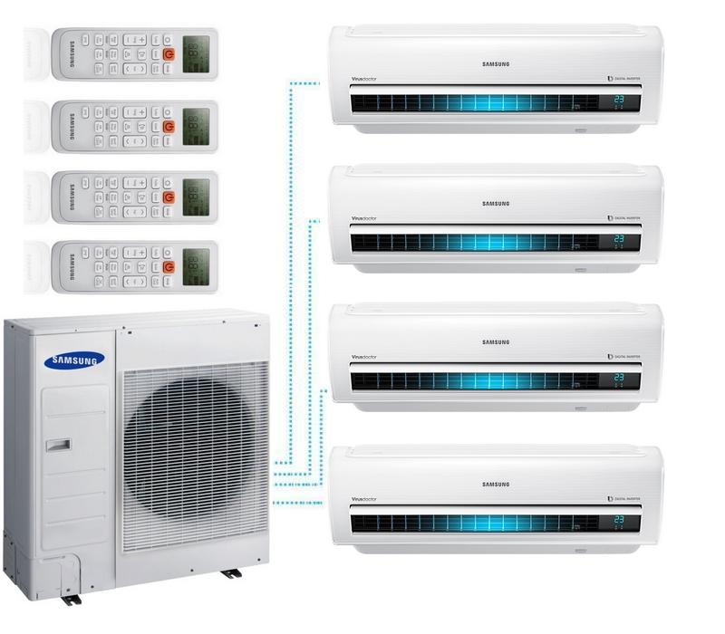 samsung klimaanlage multi split 4 r um premium inverter. Black Bedroom Furniture Sets. Home Design Ideas