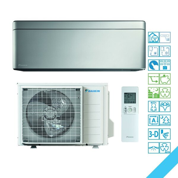 Daikin Stylish FTXA35AS R32 Wandklimageräte-Set - 3,4 kW